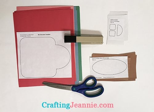 hot chocolate craft template ready to cut
