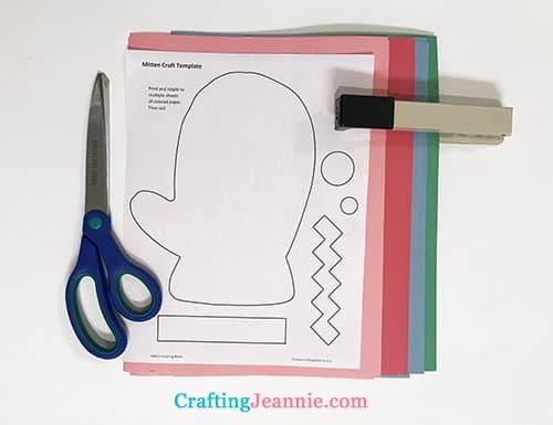 preschool mitten craft template ready to cut