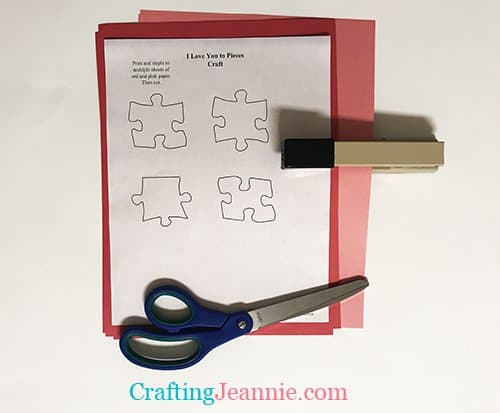 valentine's day craft template ready to cut
