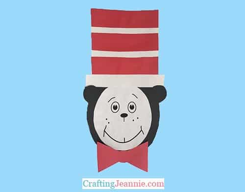 Cat in The Hat craft with template by Crafting Jeannie