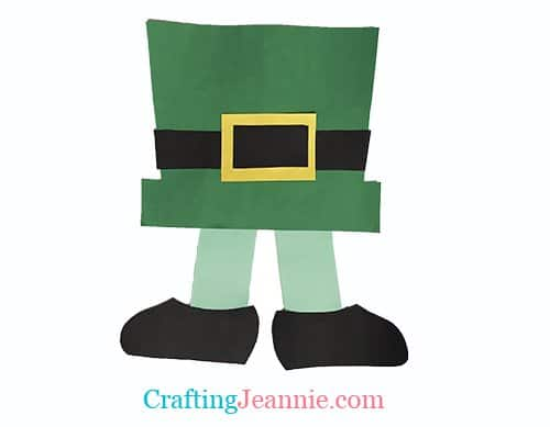 Easy Leprechaun craft for group of kids - legs coming out of hat