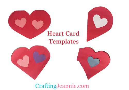 pictures of heart cards with words heart card templates