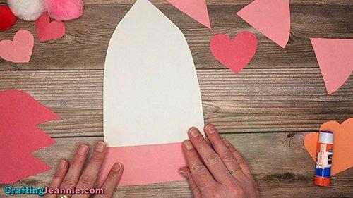 glue the bottom onto the Valentine Rocket Ship