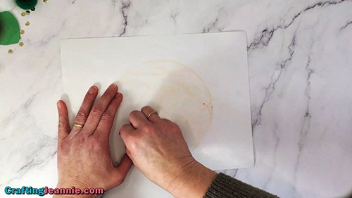 coloring the leprechaun face to make a skin tone