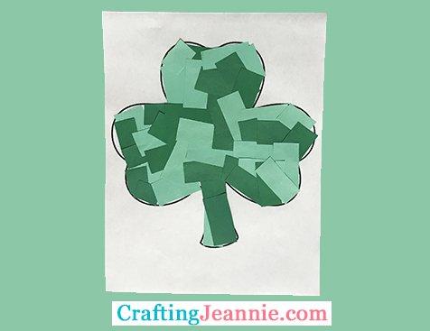 scrap paper clover craft Crafting Jeannie