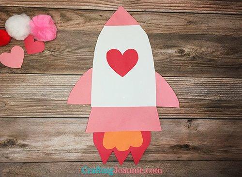 Valentine rocket ship craft Crafting Jeannie