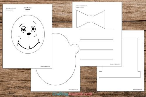 cat in the hat craft template printable pages