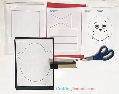 cat in the hat template ready to cut