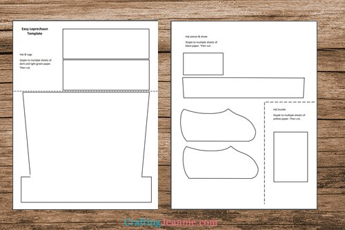 easy leprachaun craft template printable pages