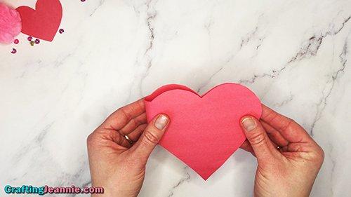 folding heart card