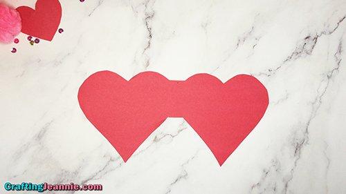 heart valentine card ready to fold