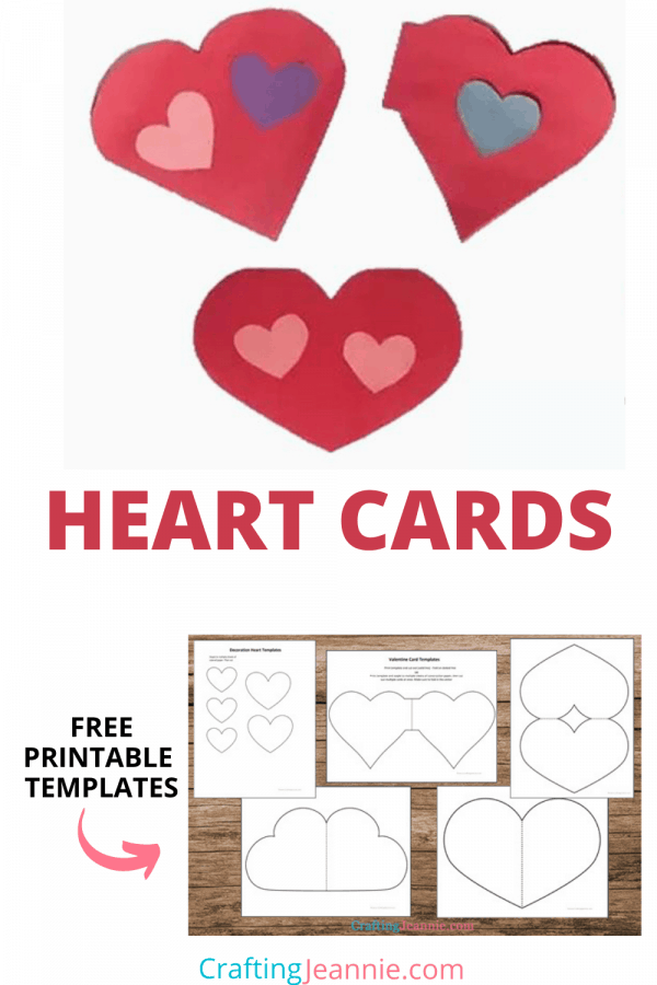 heart card templates picture for pinterest Crafting Jeannie
