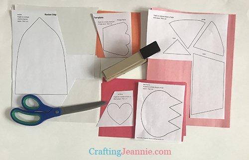 preschool valentine rocket ship craft template ready to cut
