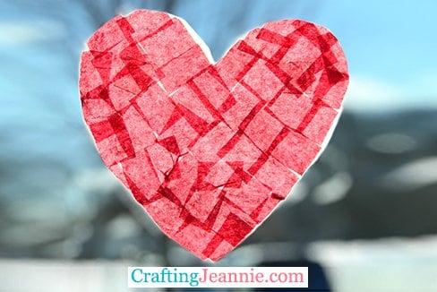 Heart Wax Paper Sun Catcher Crafting Jeannie