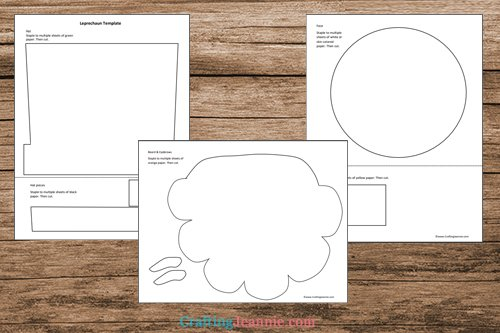 cute leprechaun craft template printable pages