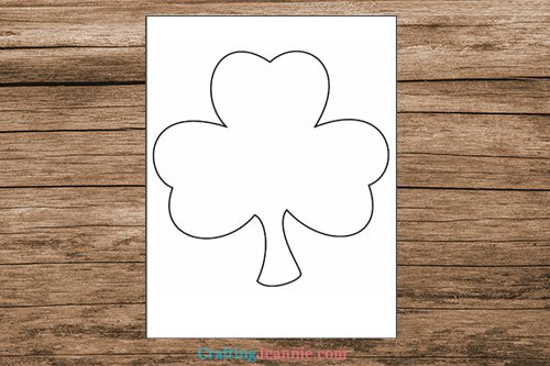 scrap paper shamrock craft template printable pages