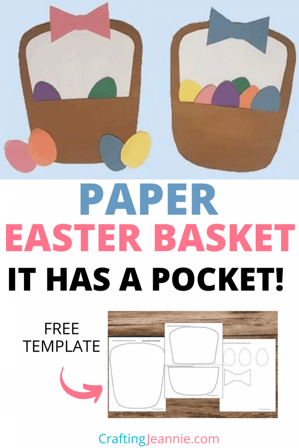 Easter Basket craft picture for pinterest Crafting Jeannie
