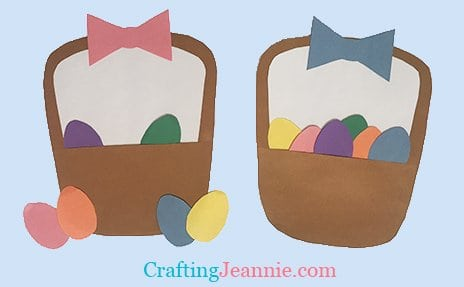 Preschool Easter Basket Craft by Crafting Jeannie
