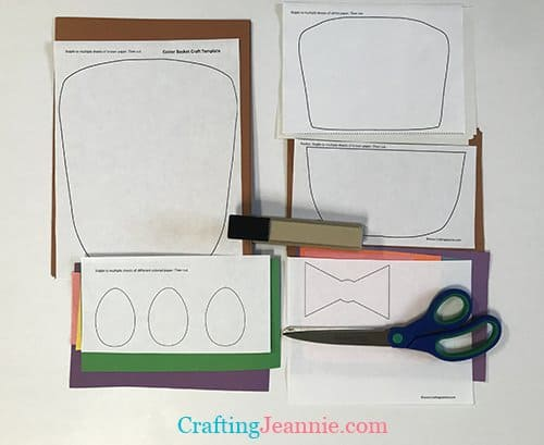 easter basket template ready to cut