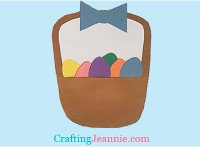 Paper Easter Basket with Eggs by Crafting Jeannie