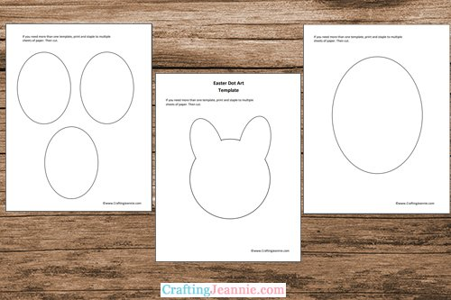 Easter dot craft template printable pages