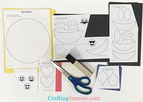 emoji template ready to cut