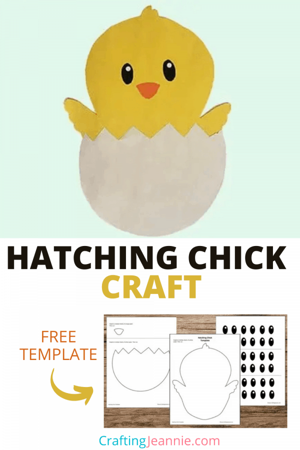 hatching chick craft picture for pinterest Crafting Jeannie