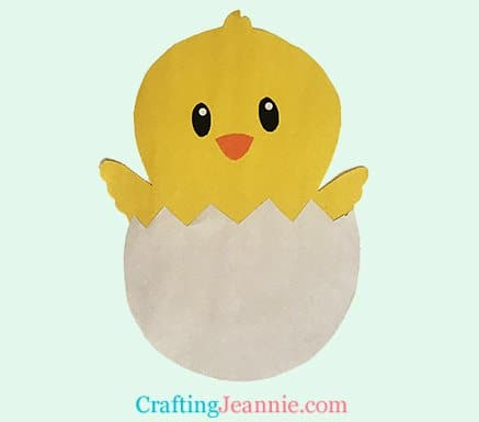 hatching chick craft by Crafting Jeannie