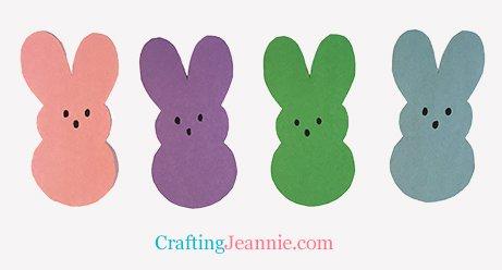 rainbow of paper bunny peeps