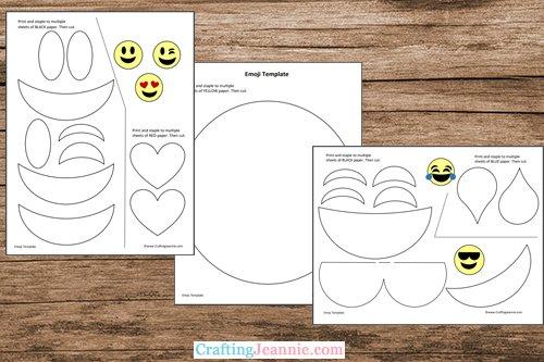 emoji template printable pages