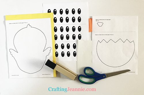 hatching chick template ready to cut