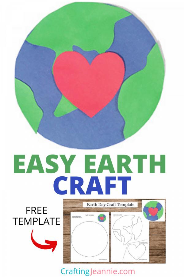 Preschool Earth Craft by Crafting Jeannie