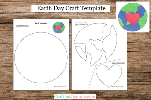 Earth day printable by Crafting Jeannie