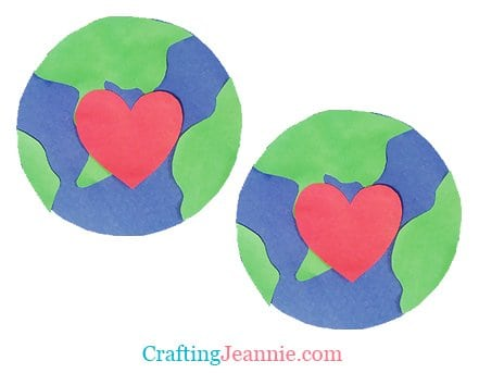 two earths for an kindergarten earth day activity by Crafting Jeannie