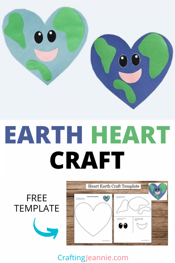 Earth Day craft pinterest by crafting Jeannie