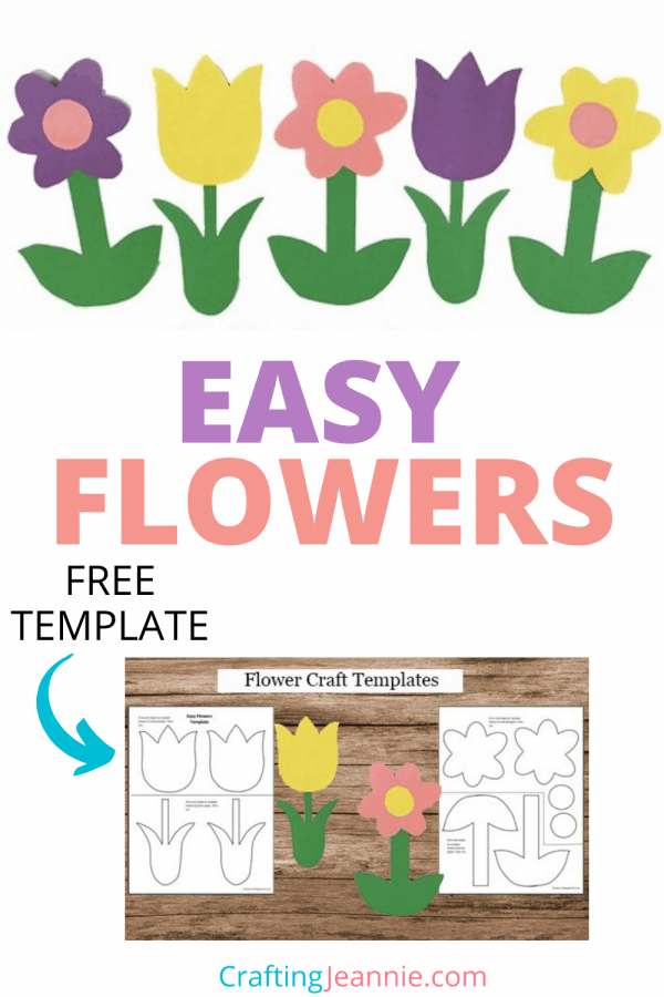 Flower Craft Printables Pin by Crafting Jeannie