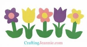 flower craft with template