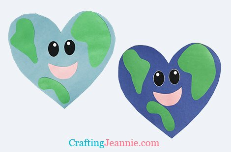 Earth Craft Shaped like a heart with smiley face by Crafting Jeannie