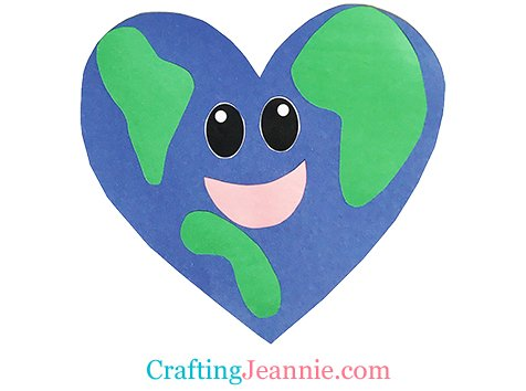 Heart Earth Craft by Crafting Jeannie