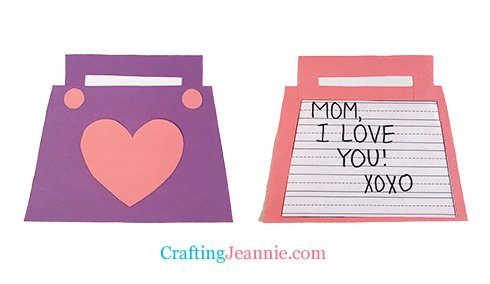 Mothers Day Craft Purse by Crafting Jeannie
