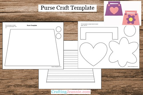 Purse Craft Template by Crafting Jeannie