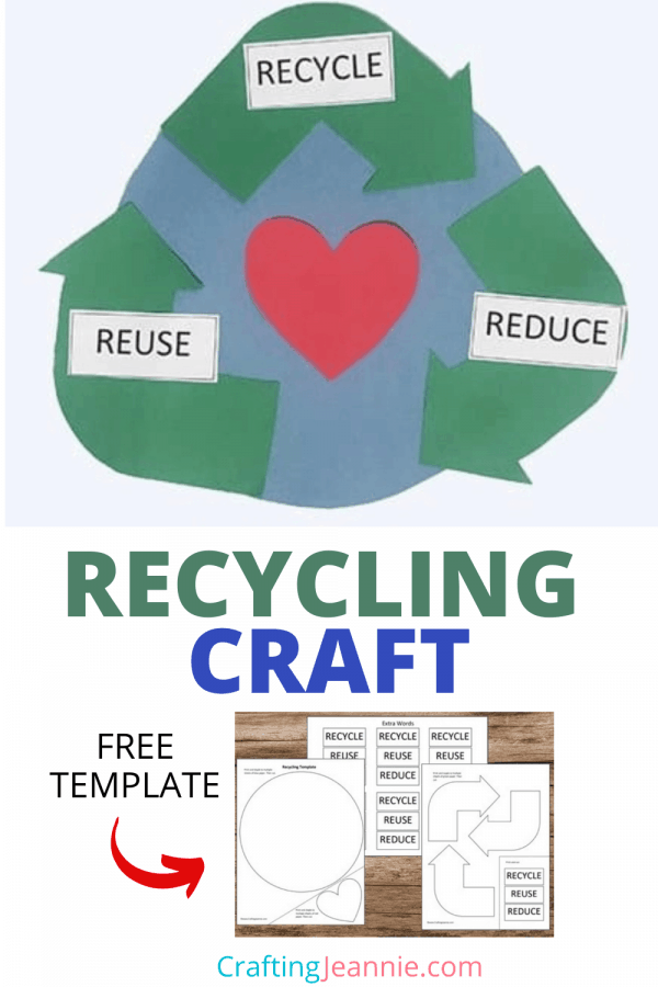 Recycling Craft for Pinterest by Crafting Jeannie