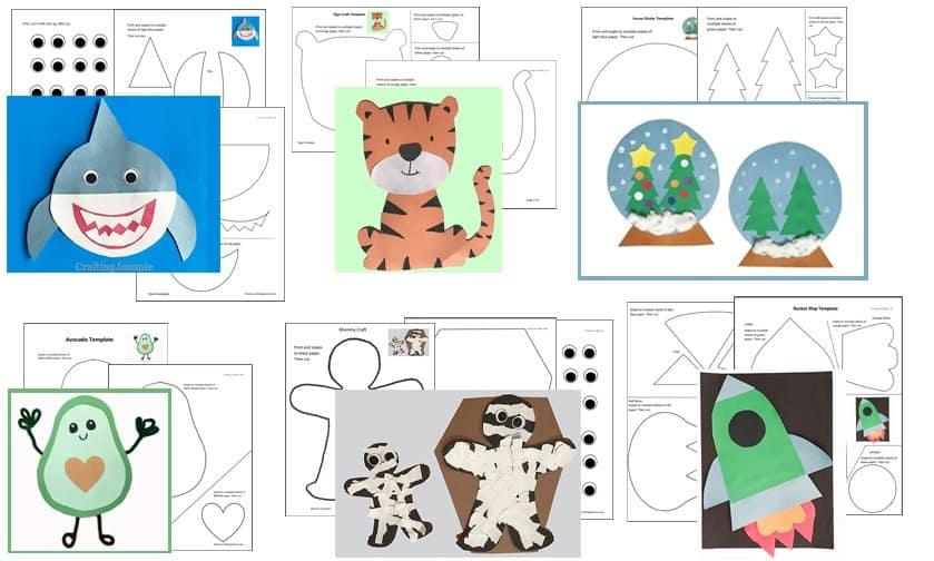 Craft Printables by Crafting Jeannie