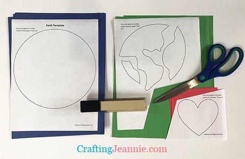 earth day craft preschool ready to cut