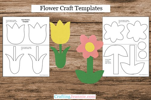 Flower Craft Printable template by Crafting Jeannie