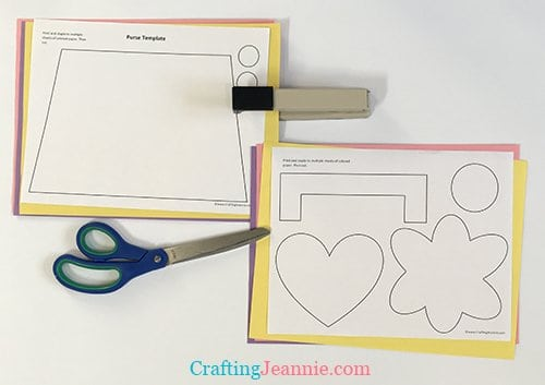 Purse Craft Template pieces ready to cut