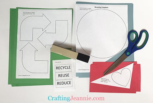 reduce, reuse, recycle worksheet ready to cut