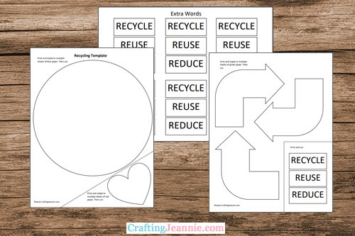 Recycling activity worksheet CraftingJeannie
