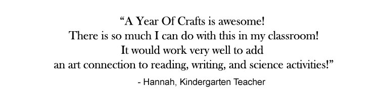 Hannah's testimonial for A Year Of Crafts