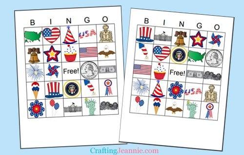 Free Printable USA Bingo by Crafting Jeannie